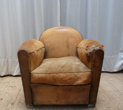 fauteuil 30 rond cuir 1